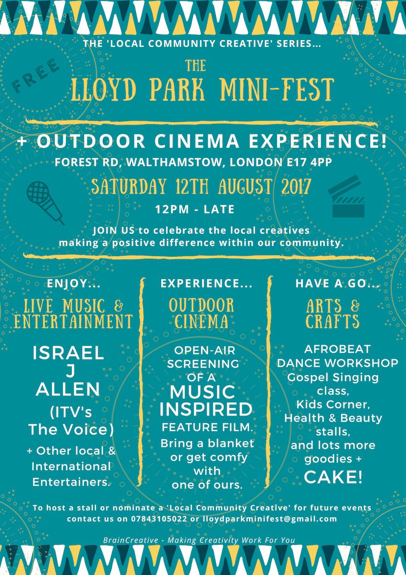 The Lloyd Park Mini Fest Flyer