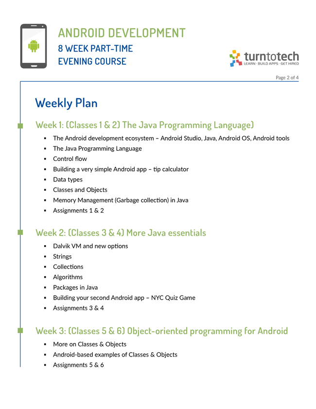 Intro to Android Development with Java (Part-Time Evening Course)
