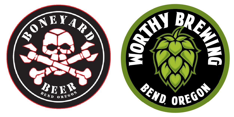 Boneyard and Worthy Brewing Logos