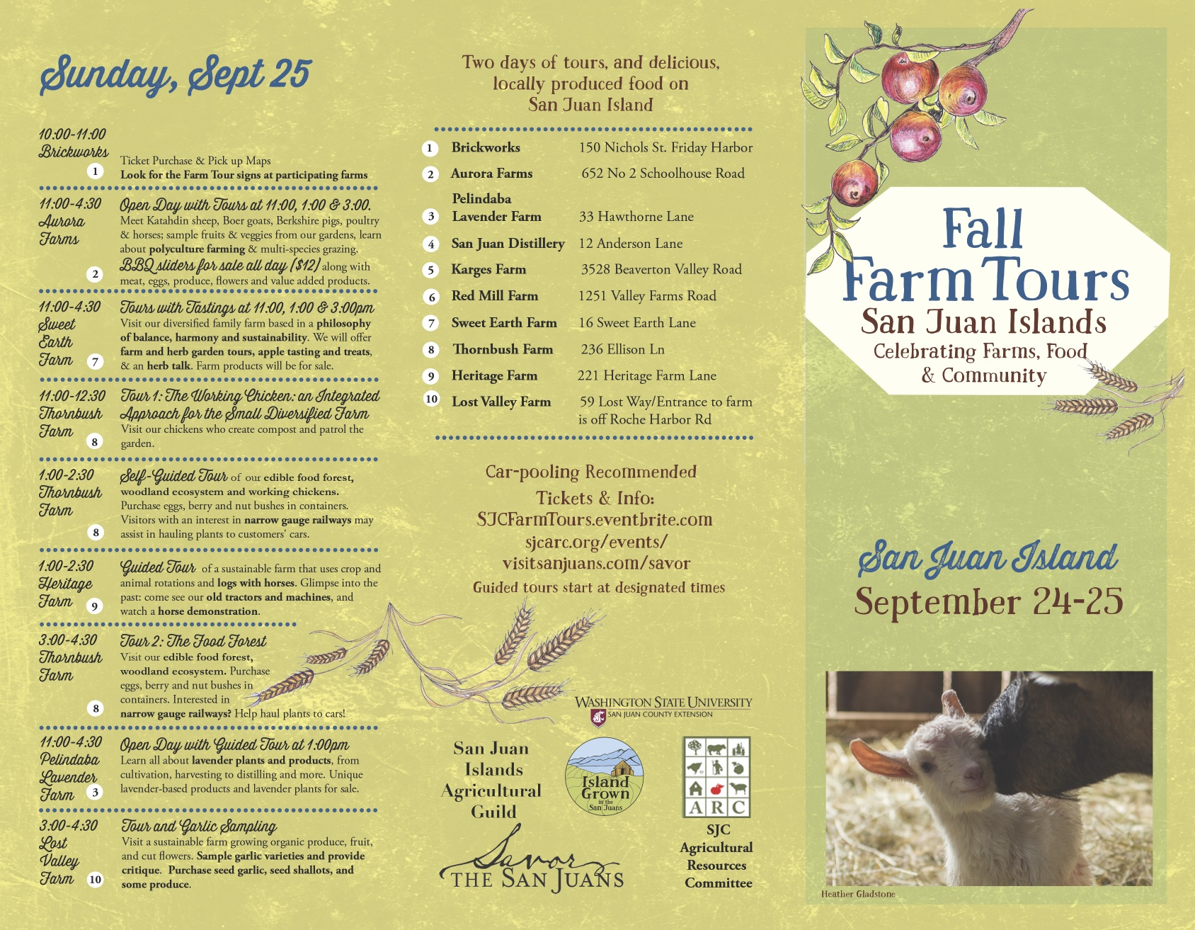 San Juan Farm Tour - Sunday Events