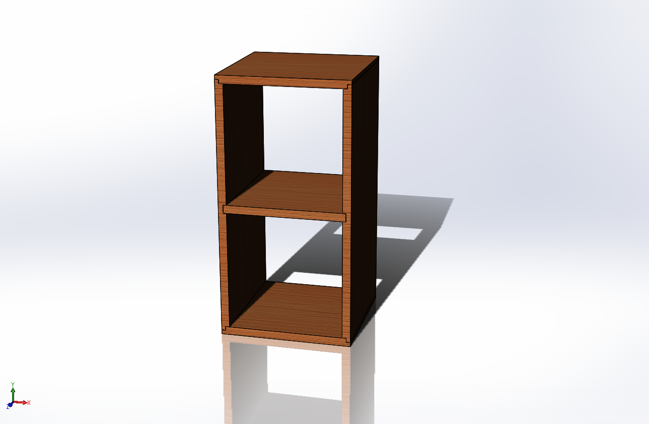 Computer rendering of a Vertical Shelf