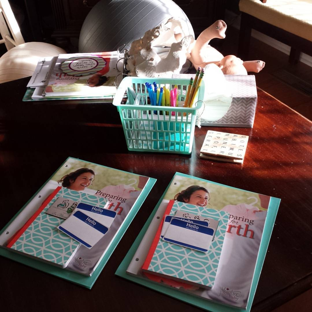 Materials Ready for Childbirth Class