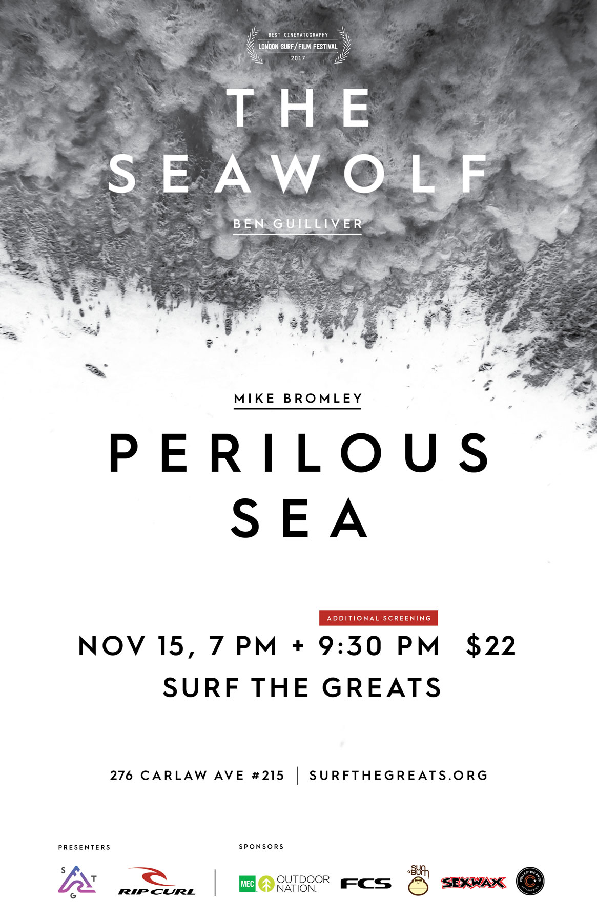 The Seawolf + Perilous Sea Film Premiere Toronto