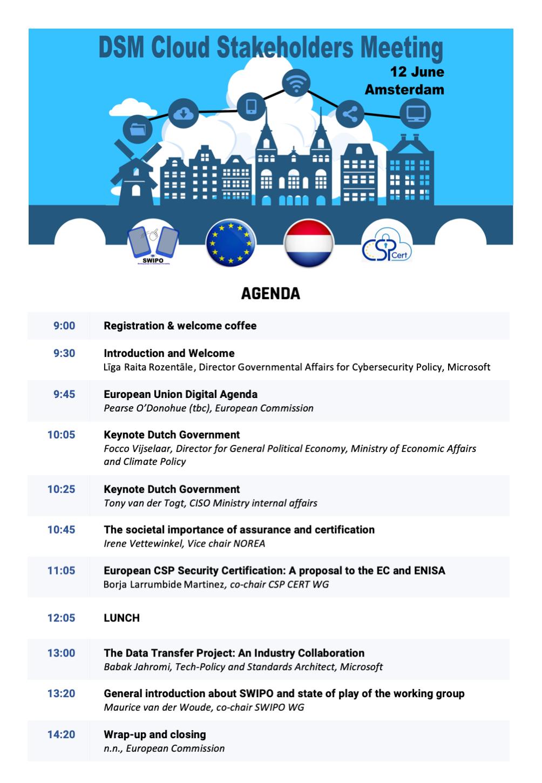 Agenda Amsterdam roadshow
