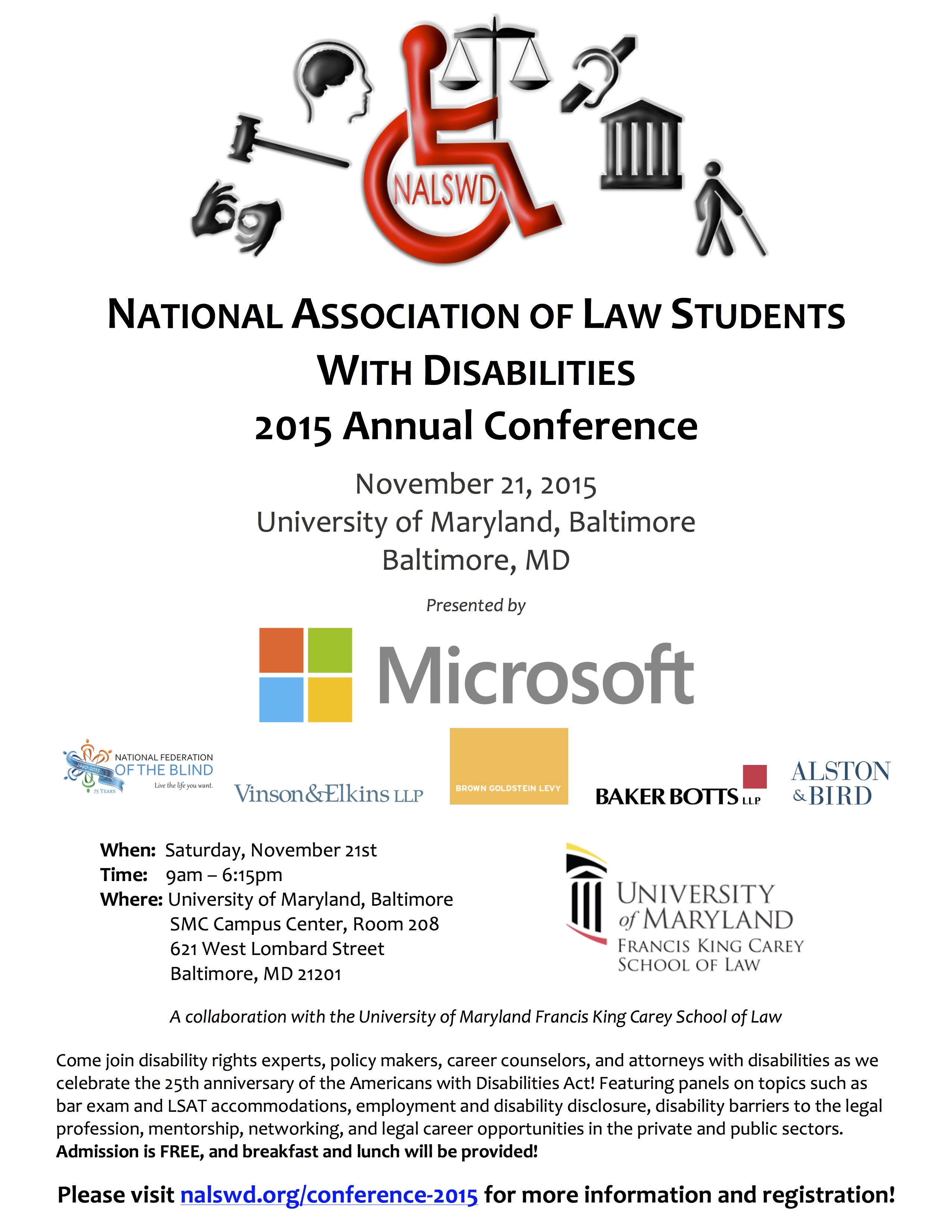 2015 NALSWD Conference Flyer