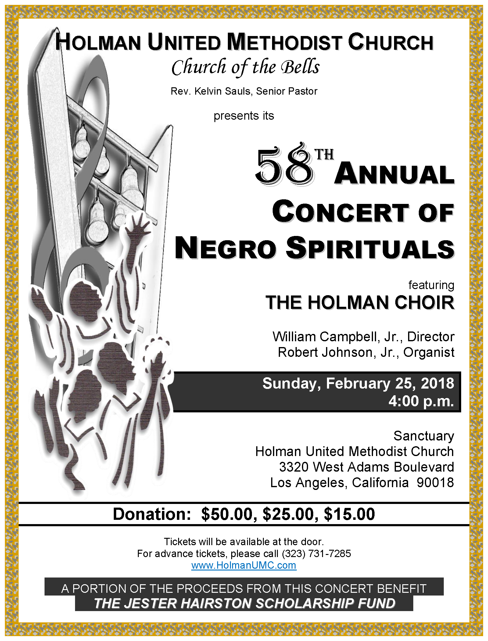 58th Annual Concert of Negro Spirituals