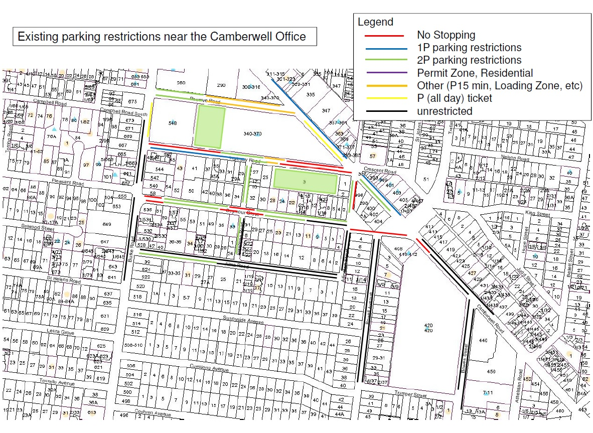 Camberwell parking restrictions