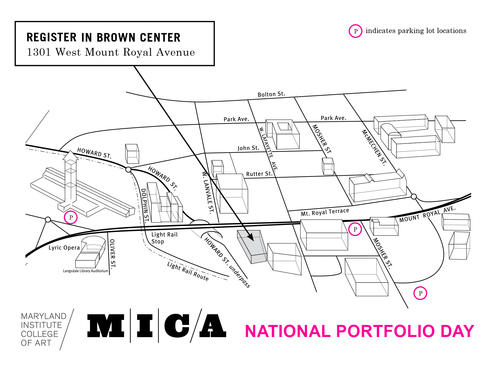 MICA Parking Map