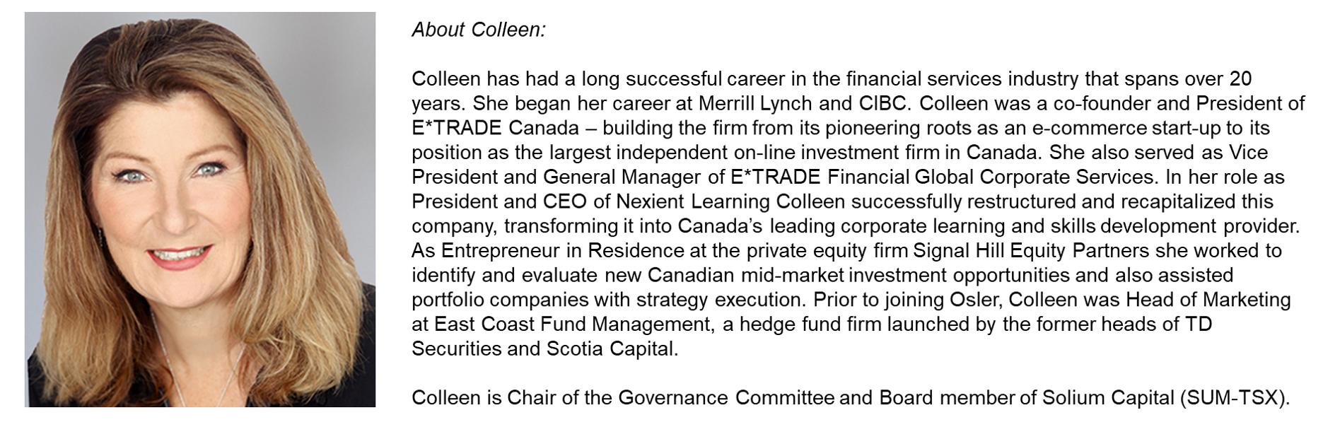 Colleen Moorehead Bio