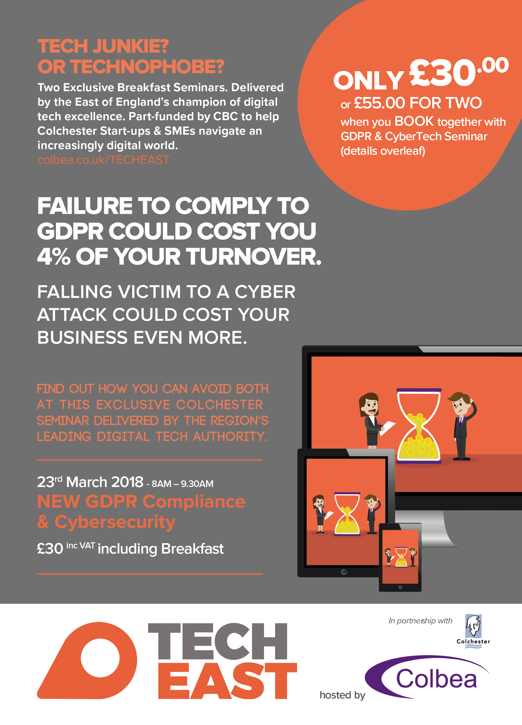 GDPR Seminar by TechEast and Colbea in Partnership with Colchester Borough Counci