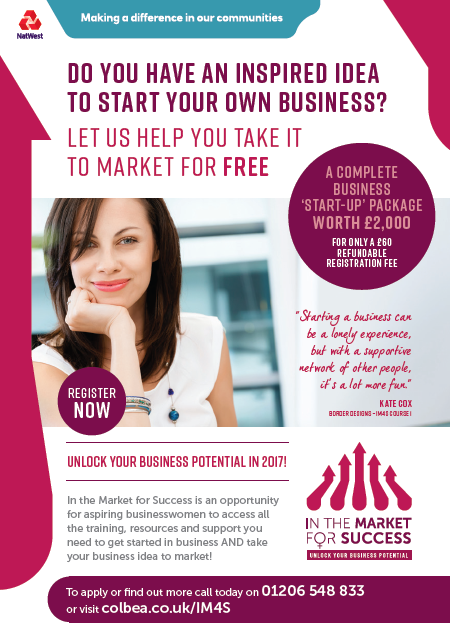 In the Market for Success Evening Courses, starting 14th September 2017