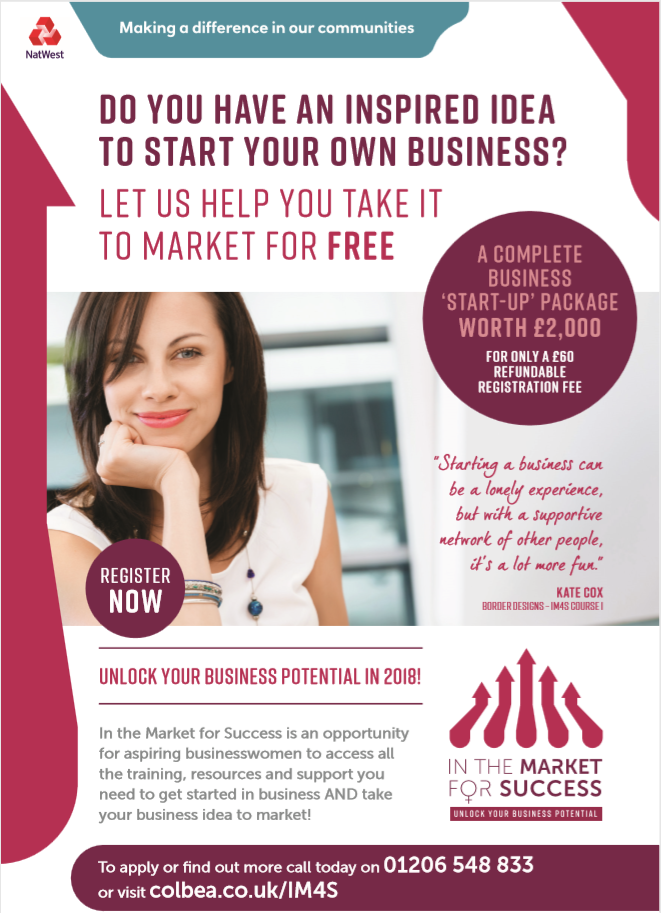 In the Market for Success is a fully-funded business start-up package for aspiring female entrepreneurs