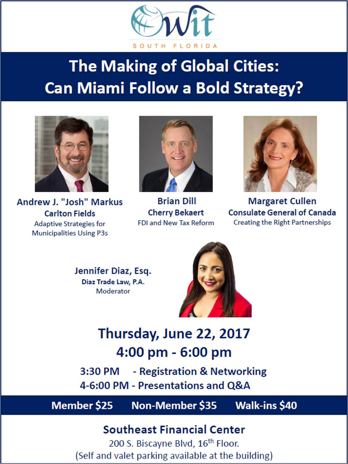 OWIT South Florida: The Making of Global Cities: Can Miami Follow a Bold Strategy?