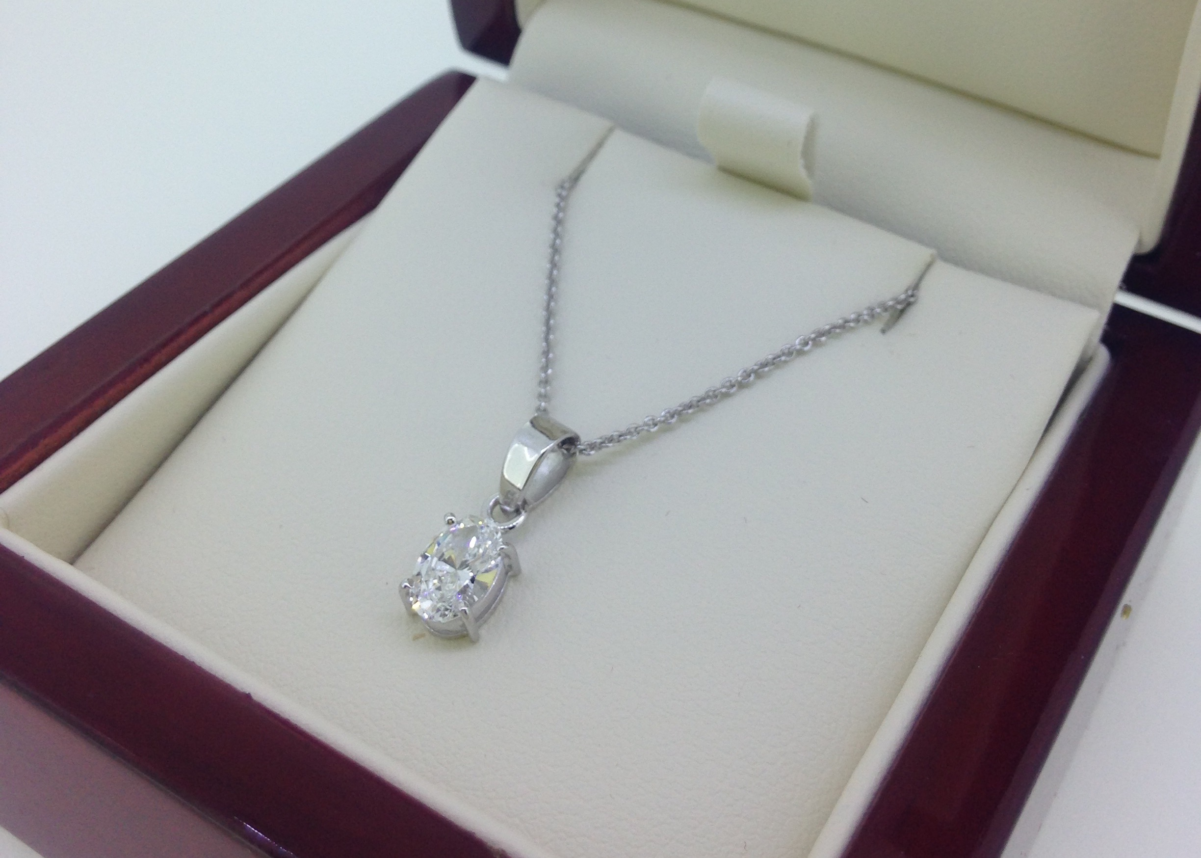 Sparkling diamond pendant valued over $10,000