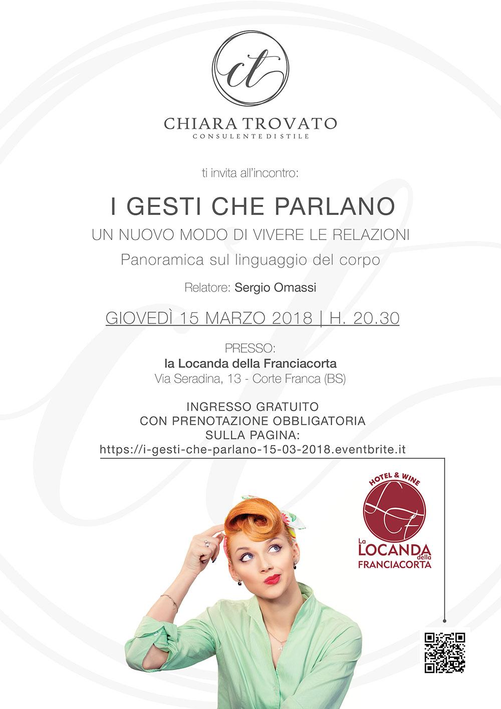 Locandina evento I GESTI CHE PARLANO | Sergio Omassi