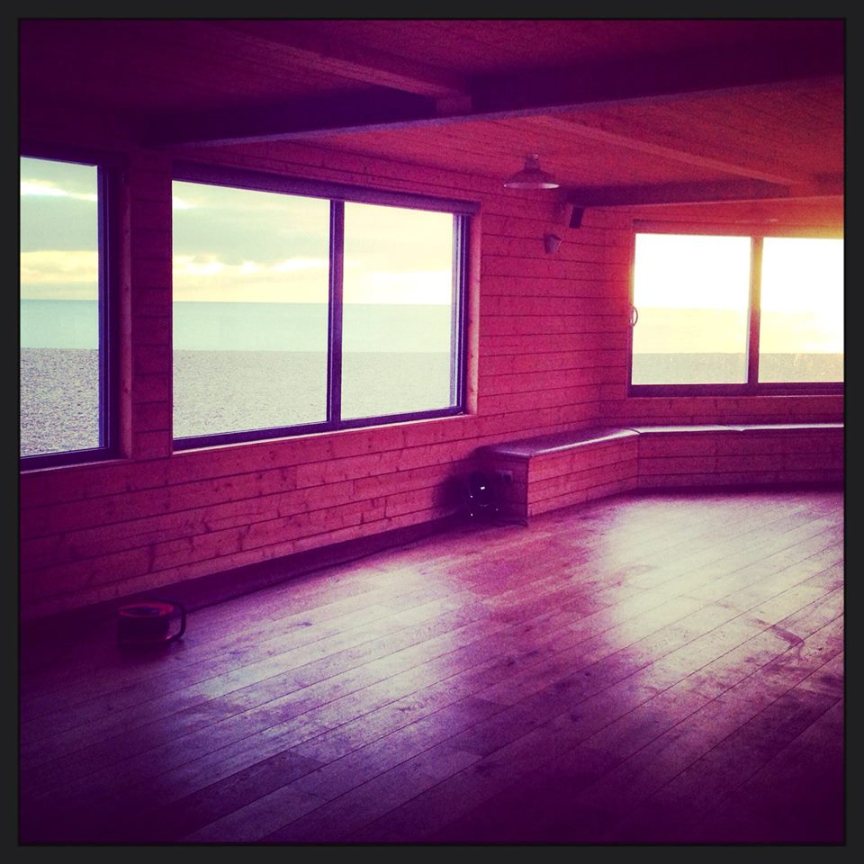 Our dance studio right on the beach
