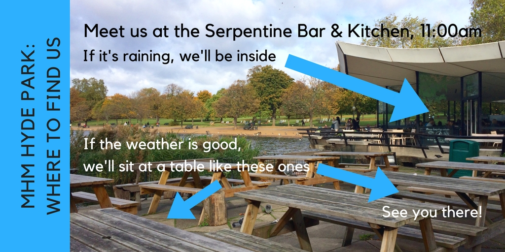 Hyde Park Serpentine Bar & Kitchen Meeting Point for Mental Health Mates