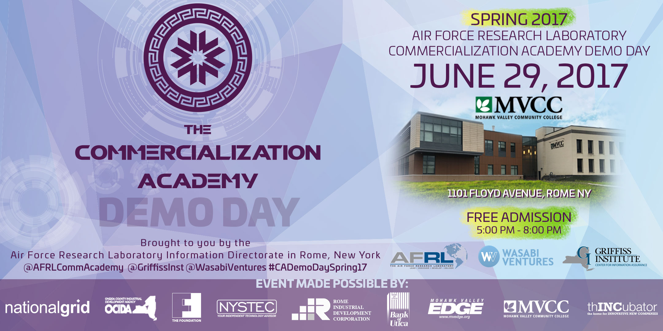 AFRL Commercialization Academy Spring 2017 Demo Day ...