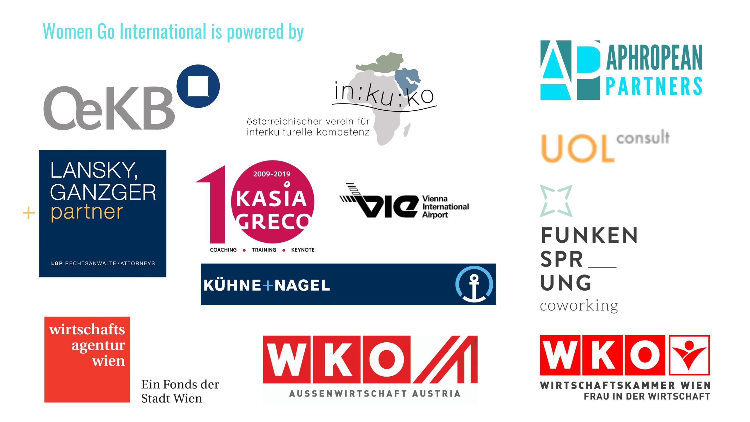 Collaboration partners of Women Go International