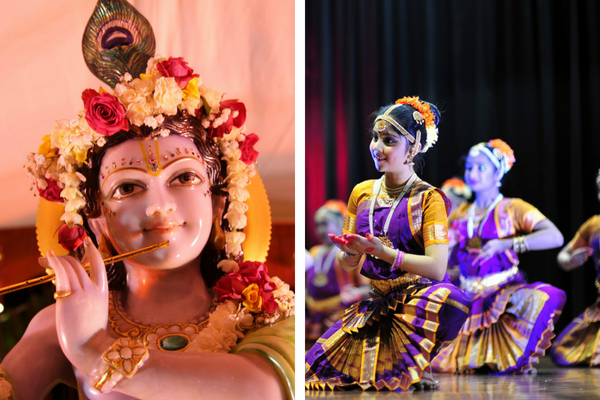 Sri Krishna and Mahabharata dancers