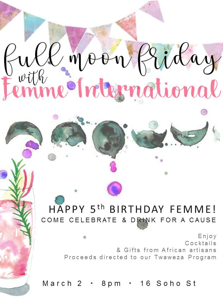 Full Moon Fridays with Femme International