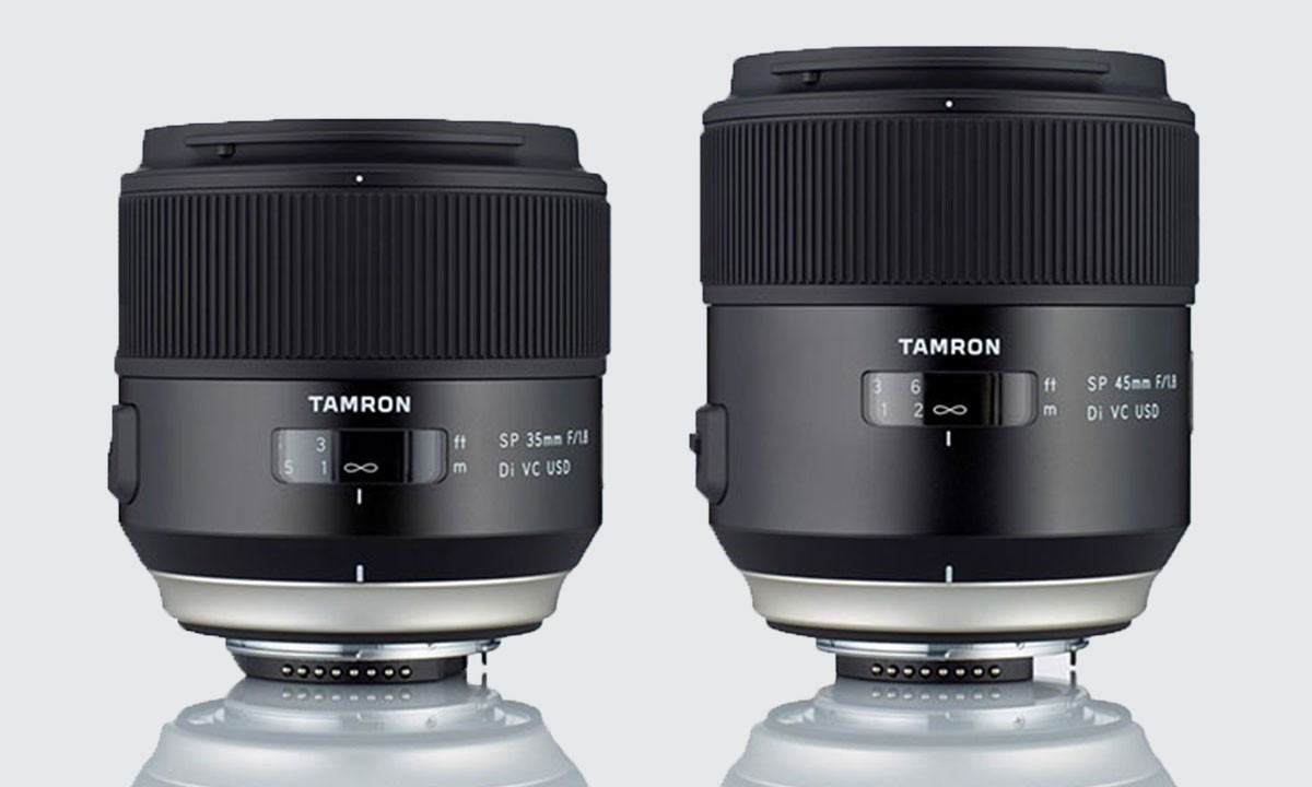 The 35mm 1.8 and 45mm 1.8 lenses
