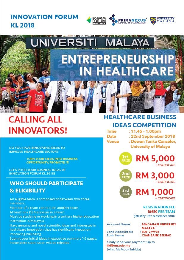 IFKL Business Idea Competition Flyer