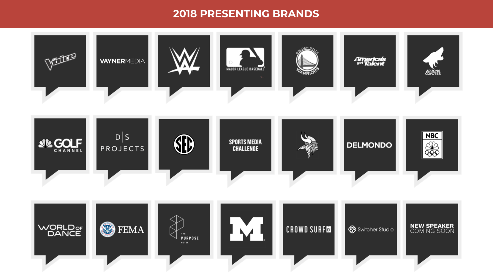 2018 Presenting Brands