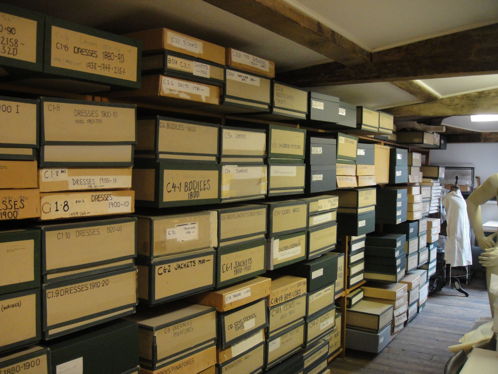 Storage boxes in Platt Hall Attic
