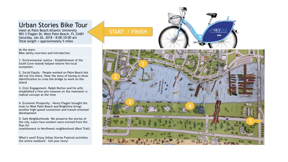 Urban Stories Bike Tour Map