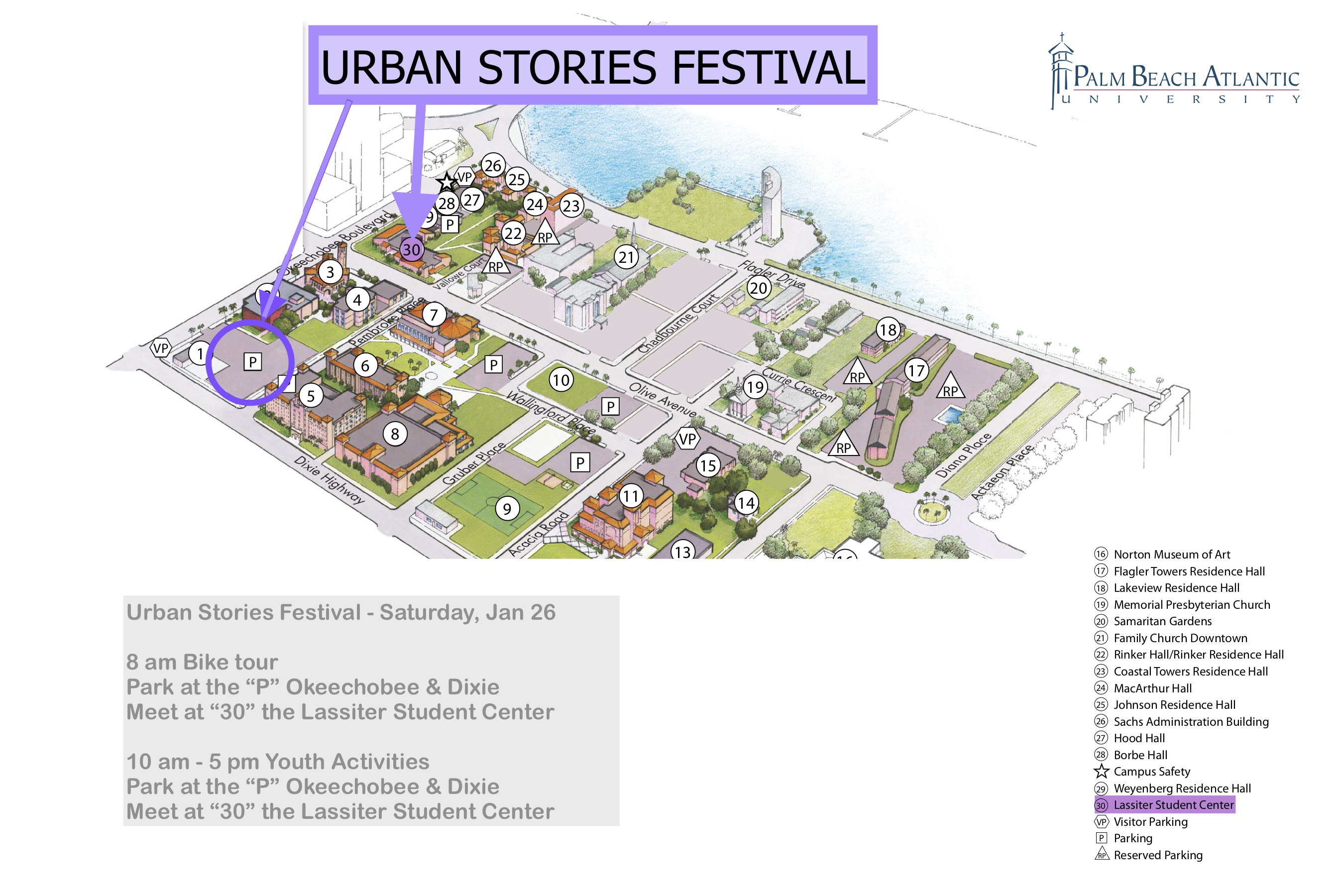 Urban Stories Parking & Meetup Map