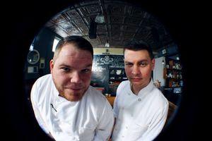 Chefs Caleb Shriver and Phillip Perrow