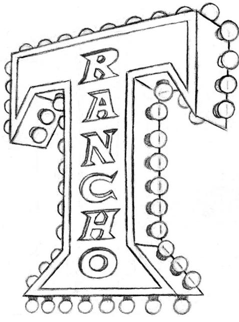 Rancho T logo sketch