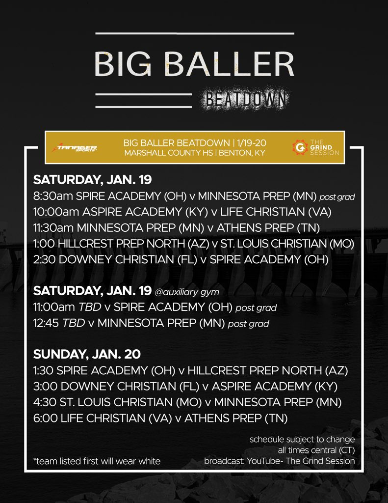 Big Baller Beatdown Schedule