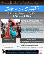Sisters for Somalia: MKU Sorority, Inc., MADRE, & You
