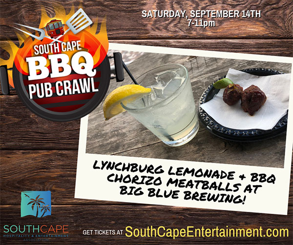 South Cape BBQ Pub Crawl - Big Blue serving Chorizo BBQ Meatballs
