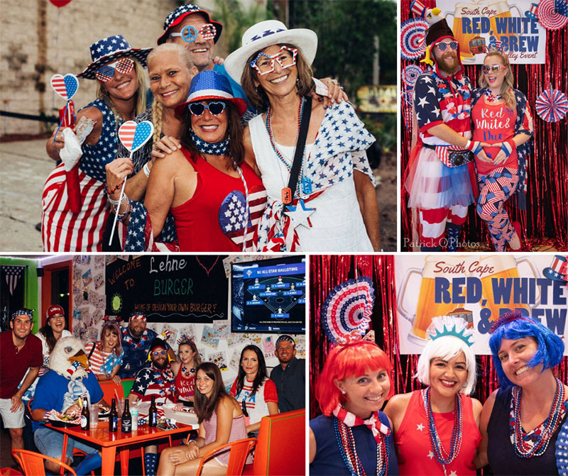 Attendees from the 6th Annual Red, White & Brew in 2018