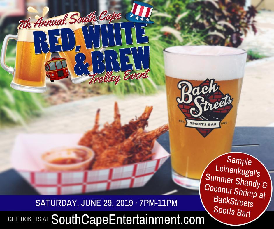 At BackStreets you'll sample Summer Shandy and Coconut Shrimp
