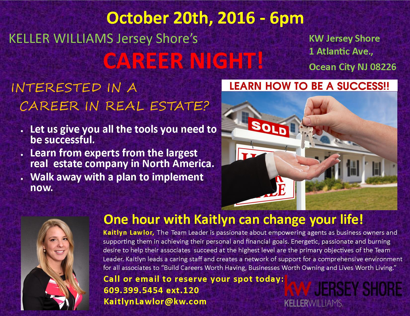career night change your life by changing your career tickets description