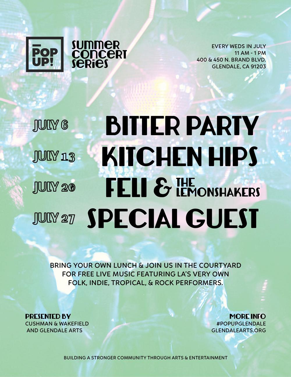 POPUP! Summer Concert Seires Flyer