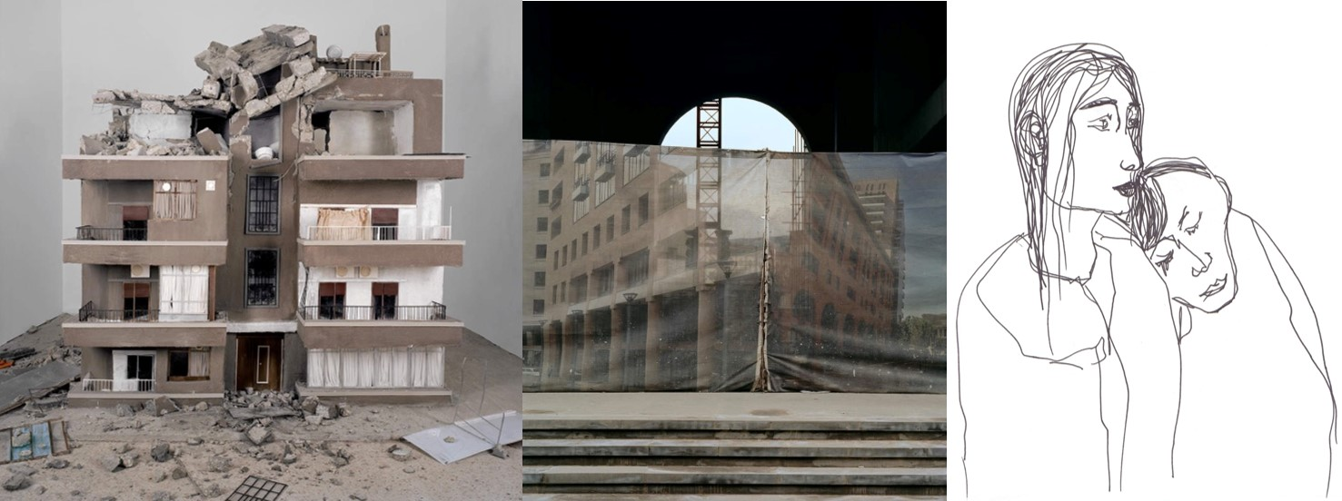 Credits: Left - Homesick by HrairSarkissian; Middle - Fabric City by Hrair Sarkissian and Right - Loss and Hope by Nour Saleh
