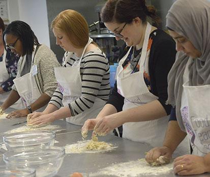 Bread dough kneading