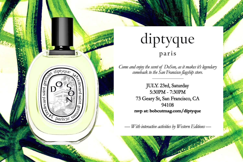 Diptyque x Bob Cut event flyer!