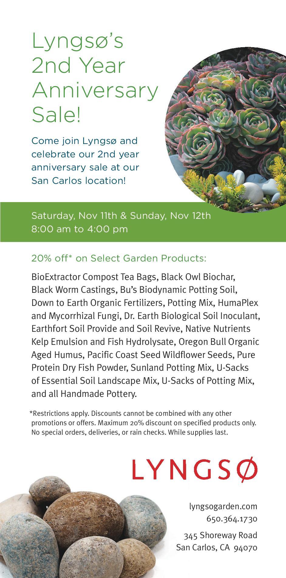 Garden Supply San Carlos California Designs