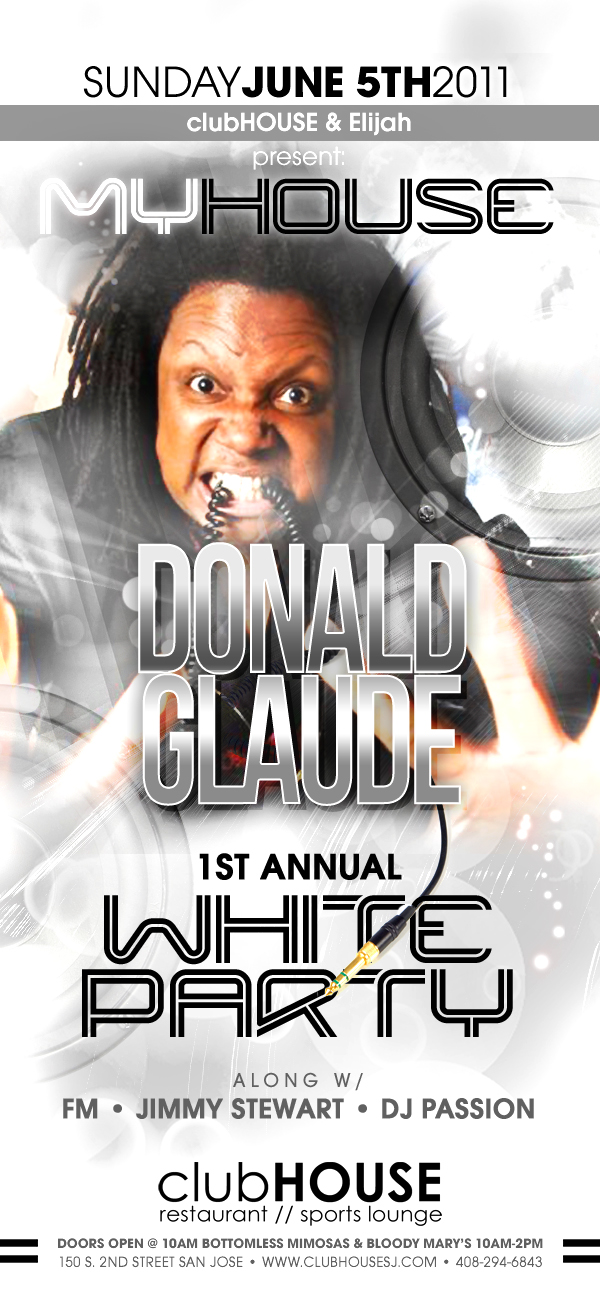 DONALD GLAUDE WHITE PARTY