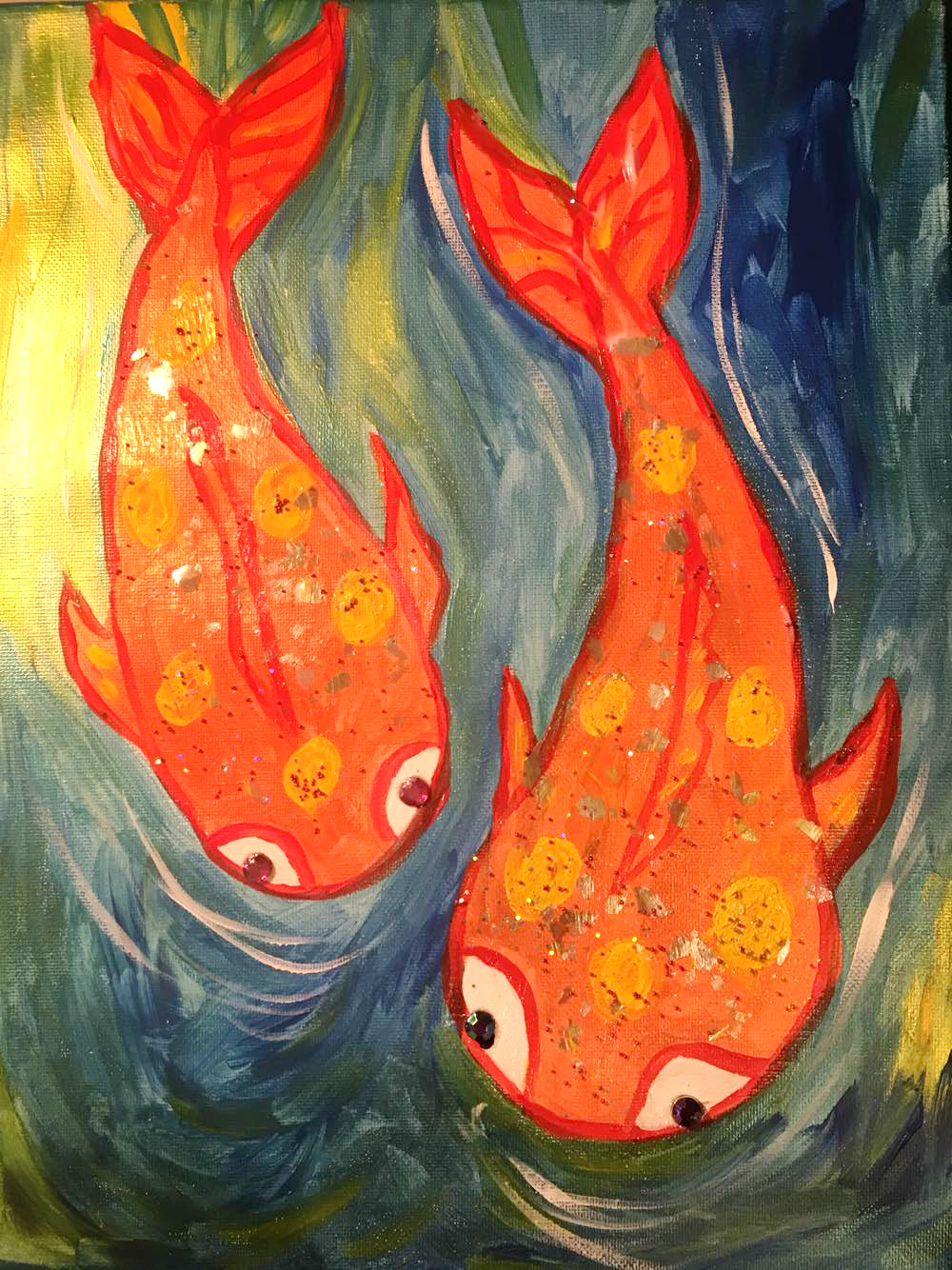 coi fish painting