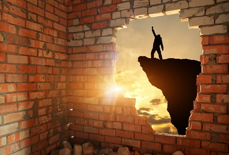 Breaking through brick wall