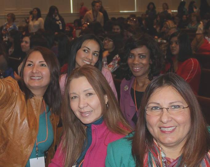 Women networking during conference 2017
