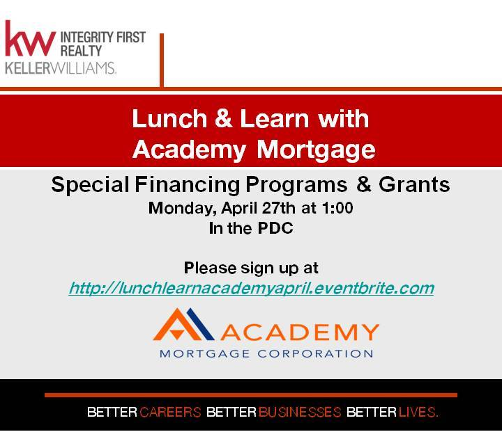 Lunch learn with academy mortgage tickets mon apr 27 for Learn mortgage