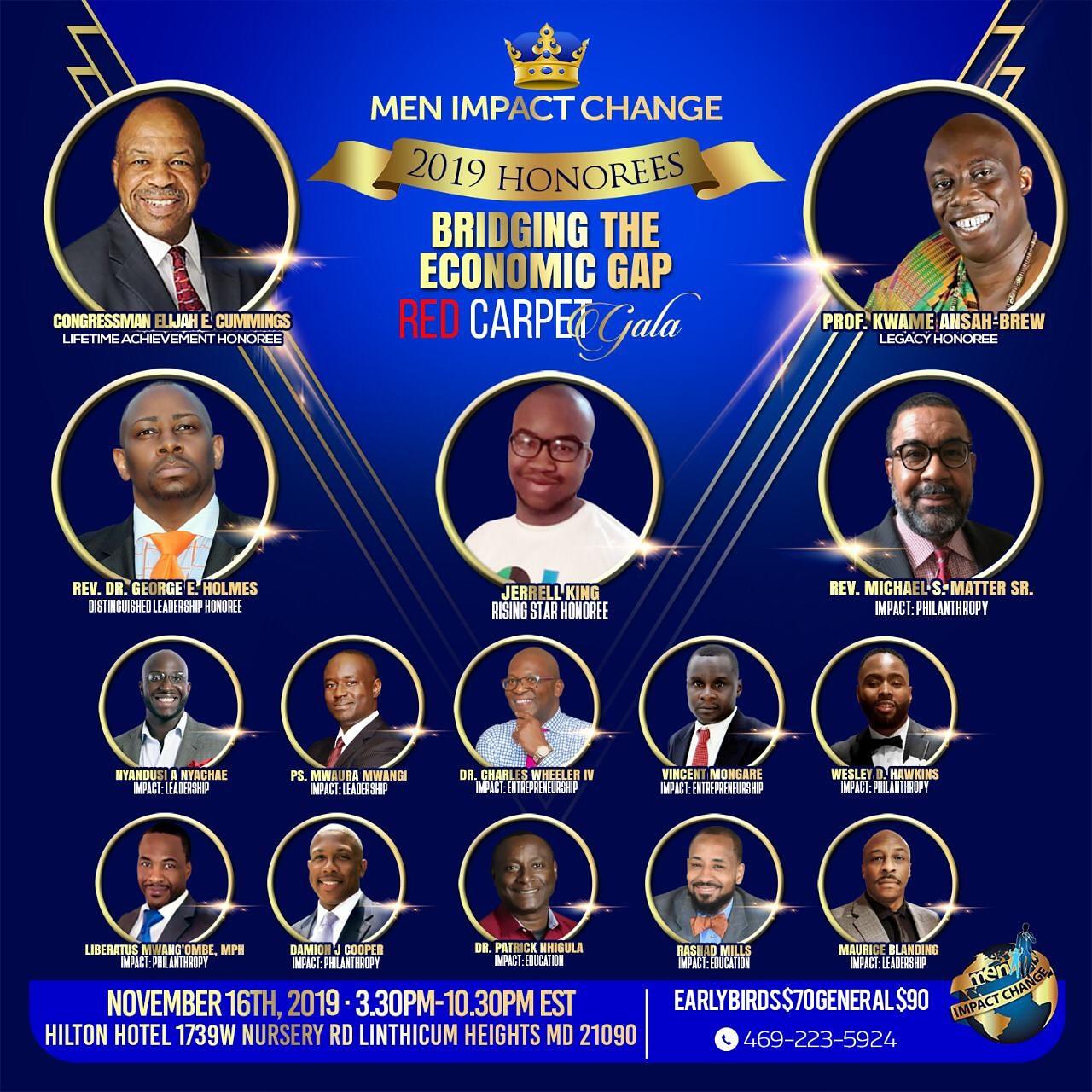 2019 Men Impact Change Honorees